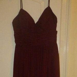 Bill Levkoff Misses Size 14 Evening Burgundy Gown